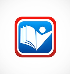 Education icon student book logo vector
