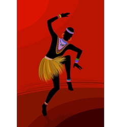 Ethnic dance african man vector image vector image