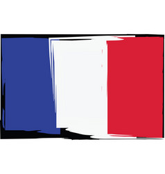 grunge france flag or banner vector image vector image