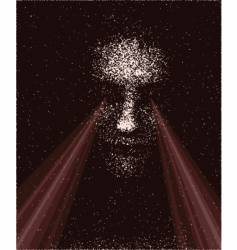 Laser eyes vector