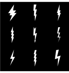 Lightning flat icons set vector image vector image