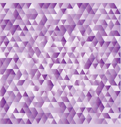lilac abstract triangles background vector image