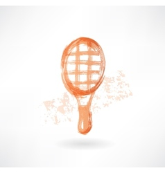 racket grunge icon vector image vector image