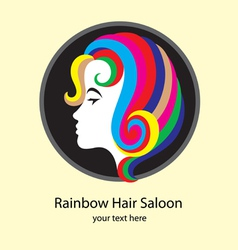 Rainbow hair saloon vector