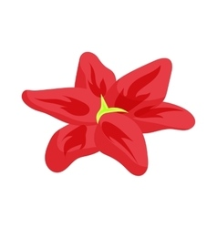 Red lily icon cartoon style vector image
