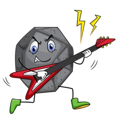 Rock star playing guitar vector image vector image