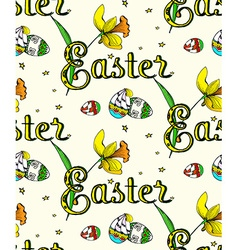 Seamless Easter2 pattern vector image vector image