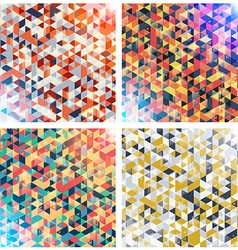 Set of colorful geometric backgrounds with vector image vector image