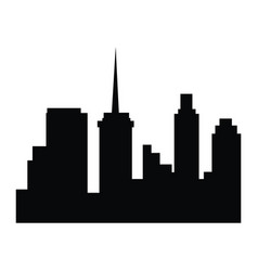 Silhouette building city urban skyline image vector