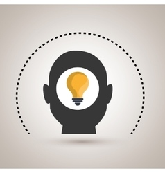 Silhouette idea bulb icon vector