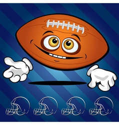 smiling football vector image vector image