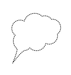 speach bubble sign black vector image vector image