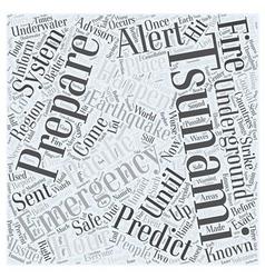 Tsunami emergency preparation word cloud concept vector