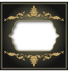 Vintage ornament frame vector image vector image