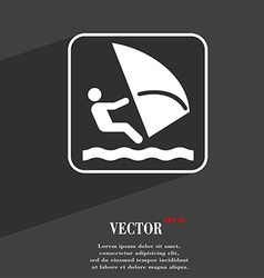 Windsurfing symbol Flat modern web design with vector image