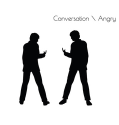 Man in conversation angry pose vector