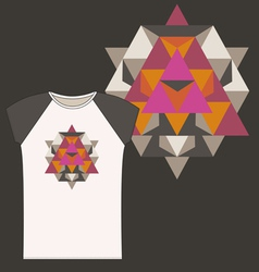 Star tetrahedron for a woman t shirt vector