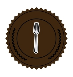 Color round frame with fork vector