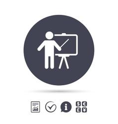 Presentation billboard sign icon vector