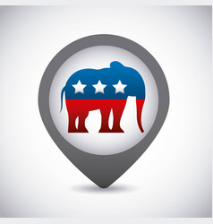 Republican party elephant usa icon vector
