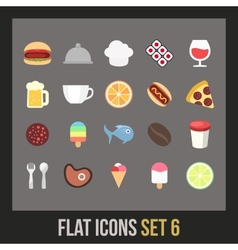 Flat icons set 6 vector image