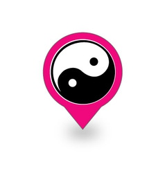 Placement with ying and yang symbol vector