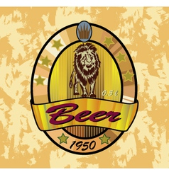 Beer lion banners on topic with beer vector