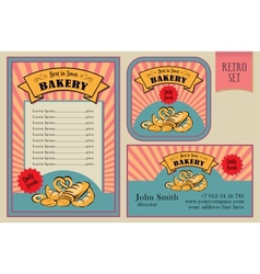 Vintage bakery labels collection vector