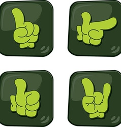 Glove icons vector