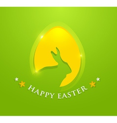 Happy easter egg with bunny ears shape vector