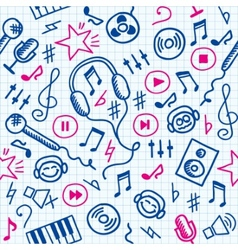 Doodle music pattern vector