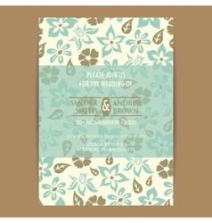 Invitation with flowers vector