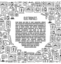 Banner electronics design vector