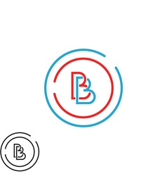 Two letter b logo monogram bb overlapping symbol vector