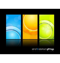 Gift cards background vector image