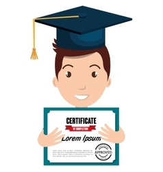 Happy person graduating design vector