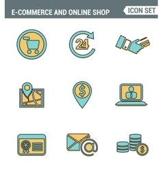 Icons line set premium quality of e-commerce vector