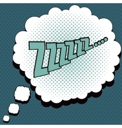 Sleep comic speech bubble vector