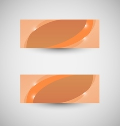 Abstract business banner orange wave background vector