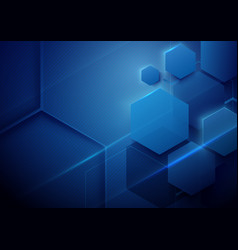 Blue abstract technology digital hi tech concept vector