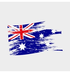 Color australia national flag grunge style eps10 vector