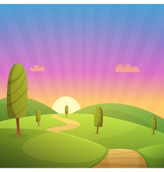 Countryside Cartoon Landscape vector image