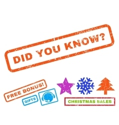Did you know question rubber stamp vector