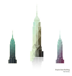 empire state building in new york city vector image