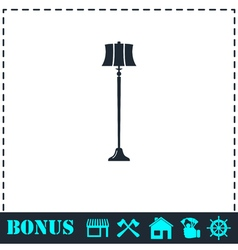 Floor lamp icon flat vector