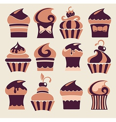 funny cakes vector image vector image