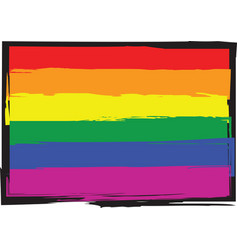 gay pride flag vector image