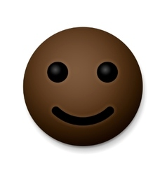 Happy emoticon emoji african american vector