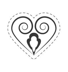 Heart decoration ornament element vector