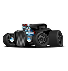 Hot rod vintage coupe custom car cartoon vector